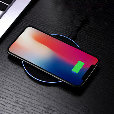 Qi Wireless Charger Charging Base For iPhone X 8/8Plus + Samsung Galaxy S8/S8+