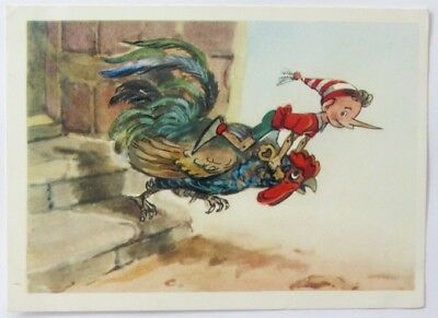 1967 PINOCCHIO BURATINO Animals ART. VLADIMIRSKY OLD RUSSIAN Collectible card