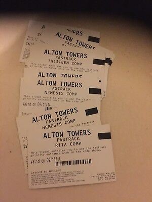 13 Alton Towers fastrack tickets