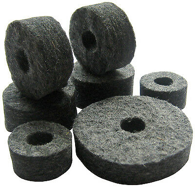 Cymbal + Hi Hat Seat & Clutch Felt Washers Pack (for drum kit stands)