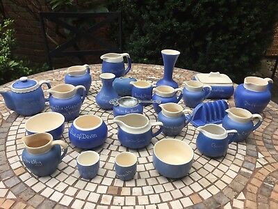 Devonware Blue Pottery - HUGE COLLECTION!