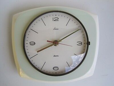 Vintage Retro Mid Century Sussex Ceramic Wall Clock Made In Germany