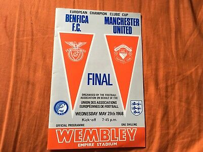 Manchester United v Benfica (Champions League Final) Football Programme 1968