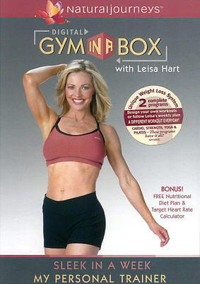 LEISA HART ~ GYM IN A BOX - SLEEK IN A WEEK - MY PERSONAL TRAINER ~ DVD new