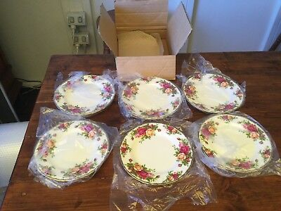 NEW Royal Albert Old Country Roses 1962 1st Quality Side or Cake Plates X 6