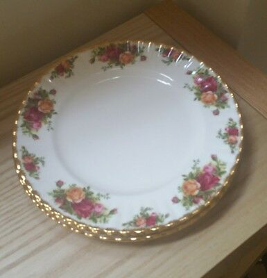 Royal Albert  -  Old Country Roses Dinner Plates x 4