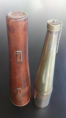 English Hunting Flask & Matched Cup - All Silver Plated