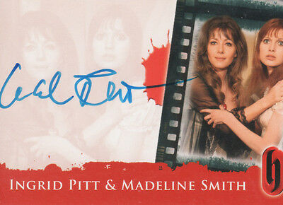 Ingrid Pitt & Madeline Smith. Autographed, Hammer Issued Card.