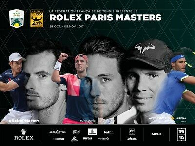 ROLEX Paris Masters Tickets, Monday 30th And Tuesday 31st Oct 2017. Back To Back