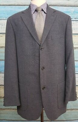 Hugo Boss Size 44R Wool Blend 3 Button Single Breasted Grey Mens Blazer