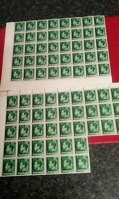 2x block of Morocco agencies centimes stamps