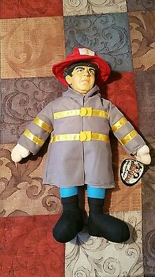 "3 stooges plush 16"" stuffed dolls fireman"