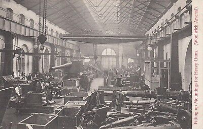 Munitions WW1 - Royal Arsenal Woolwich Fitting Up Heavy Gun Mountings