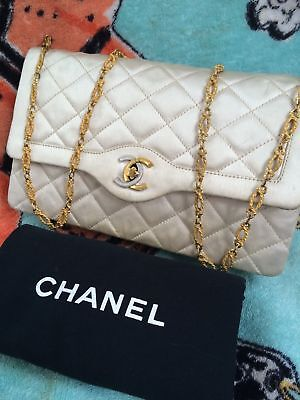 Chanel Handbag Gold Chain Quilt Flap Bag Vintage Cc Tote Coco Sac Shoulder Purse