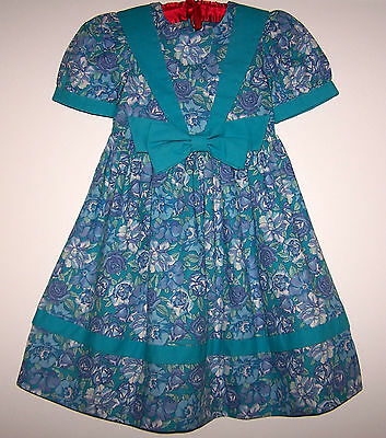 Laura Ashley Vintage Floral Label Blue Floral Dress Nw With Tag 3 Years 105 Cm