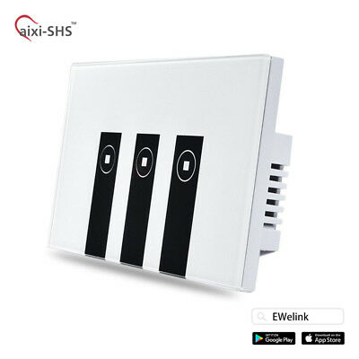 aixi-SHS Wi-Fi Touch Panel Wall Switch Works with Alexa/Google Home - 3 Gang US