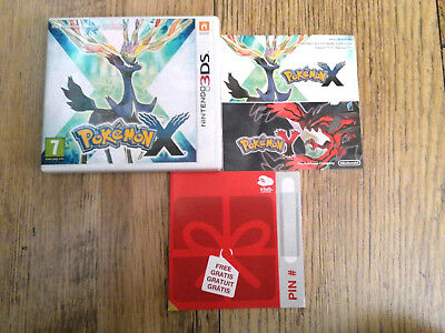 *no Game* Pokemon X Version Case & Instructions Only Nintendo 3Ds / 2Ds.
