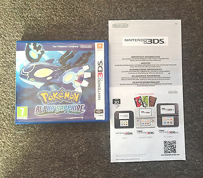 *no Game* Pokemon Alpha Sapphire Version Case & Leaflets Only Nintendo 3Ds 2Ds