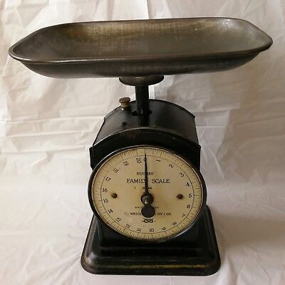 WORKING Vintage Hughes Family Weighing Scales No 48 with Pan.