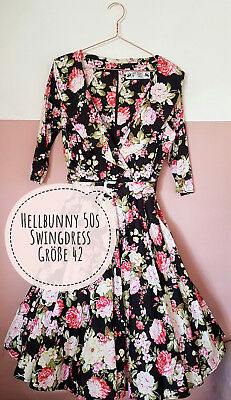 Hell Bunny Vixen 50s Swingdress 42 - L - Retro, 50er, Rockabilly, Vintage