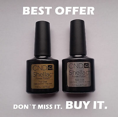 CND Shellac original Top Coat and Base Coat 7.3ml - Best price - Gel Nail Polish
