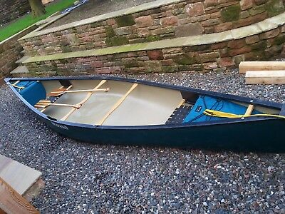 Wenonah Royalex Aurora 16' Canadian Canoe with paddles and built-in buoyancy