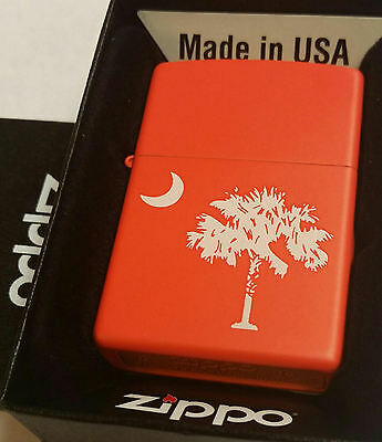 Zippo CLEMSON SOUTH CAROLINA CLEMSON ORANGE State Flag PALMETTO MOON
