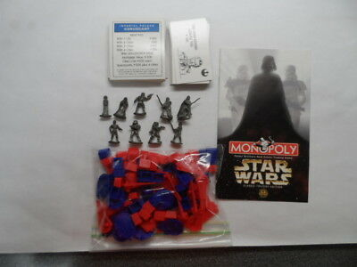 1997 Monopoly  Star Wars Classic Trilogy Replacement Pieces Inc All 9 Figures
