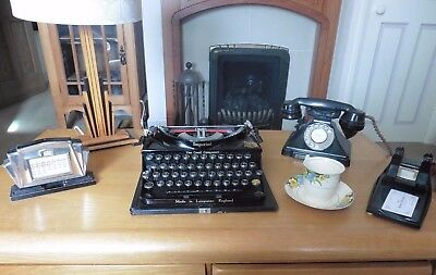 1930S /40S Vintage Art Deco Imperial Typewriter Great Condition