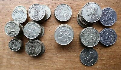 Cyprus - 97 early coins - 966 Cents (2)