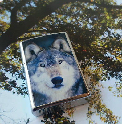 Zippo WOLF High Polished Chrome Lighter 2004 Sealed Mint