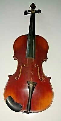 Antique 4/4 Violin Copy of Josef Guarnerius Made in Germany w/ Case & Bow
