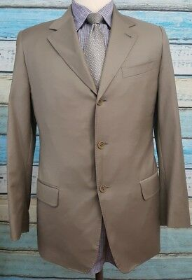 CANALI  PROPOSTA Size 50R Beige 2 Button Single Breasted Pure Wool Blazer