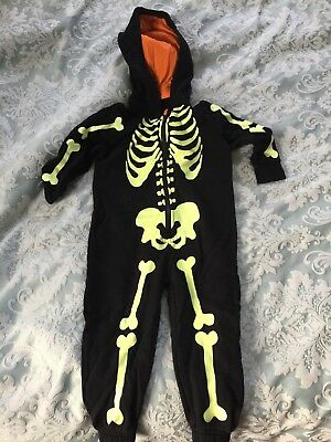 🎃 Halloween Outfit glow in the dark Skeleton Age 18-24 Months 🎃
