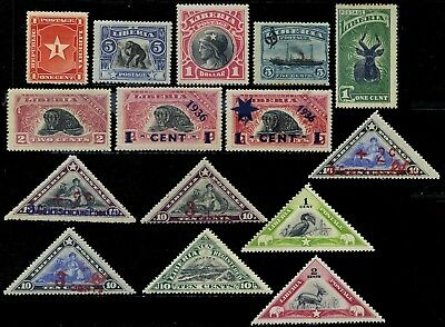 Liberia, 15 different mint stamps