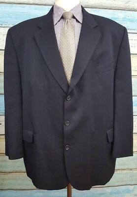 Savile Row 50R Wool Black 3 Button Single Breasted Mens  Blazer