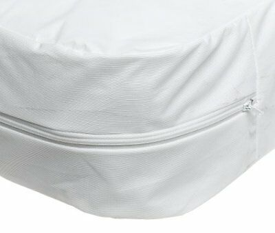 Waterproof Bed Cover Twin Size Fitted Sheet Zippered Plastic Mattress Protector