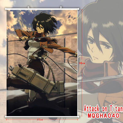 Shingeki no Kyojin Attack on Titan Anime Manga Wallscroll Stoffposter 60x90cm