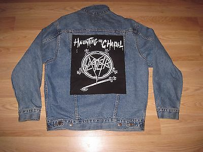 Vintage 955 Original Size Small Slayer Haunting The Chapel Denim Jacket/Free SH!