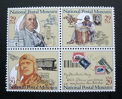 Sc # 2779-2782 (2782a) ~ Block of 4 ~ 29 cent National Postal Museum Issue (bj21
