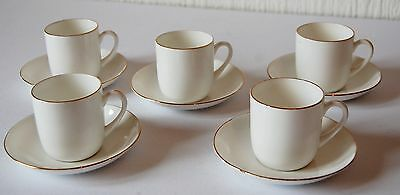 Vintage Set Of Foley White Coffee Cups & Saucers