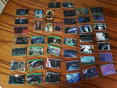 star wars revenge of the sith cards 40+