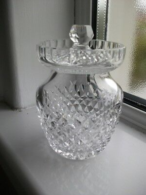Waterford Crystal Cut Glass Alana Cut Preserve Jar