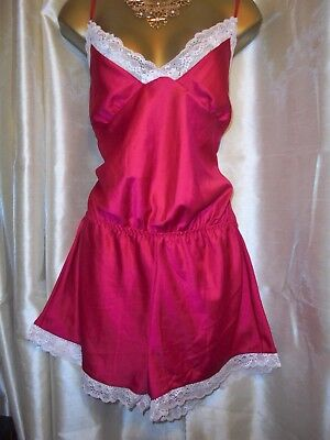 Vintage style red  Tap Pantie Body Teddie Playsuit  42 chest