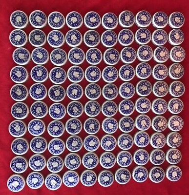 100 ROLLING ROCK BEER  BOTTLE CAPS.  Multiple Lots Available. FREE SHIPPING