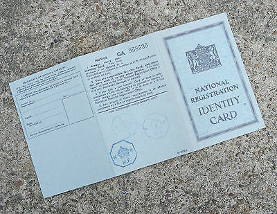 Reproduction ww2 documents ~ Endorsed Adult I.D. card ~ Issued after 1943