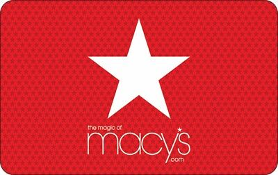 Macys gift card Brand New, the hard plastic mailable card $150