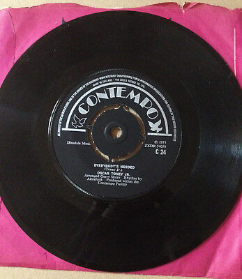 "Oscar Toney Jr. "" love gonna tear your playhouse down "" Rare SP UK funk soul"