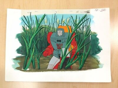 The Transformers G1 Production Cel W/ Background - Windcharger