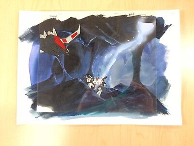The Transformers G1 Production Cel W/ Background - Prowl vs Laserbeak!
